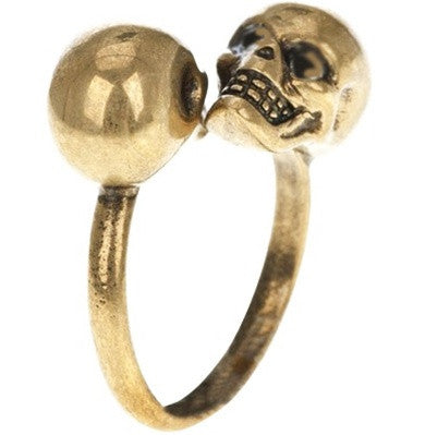 Two Faced Skull Ring
