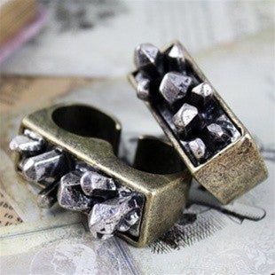 Crystal Spike Ring