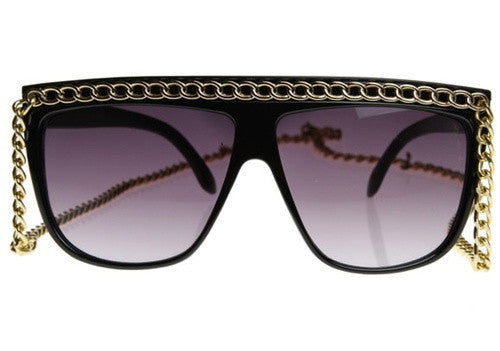 Gold Chain Drop Sunglasses