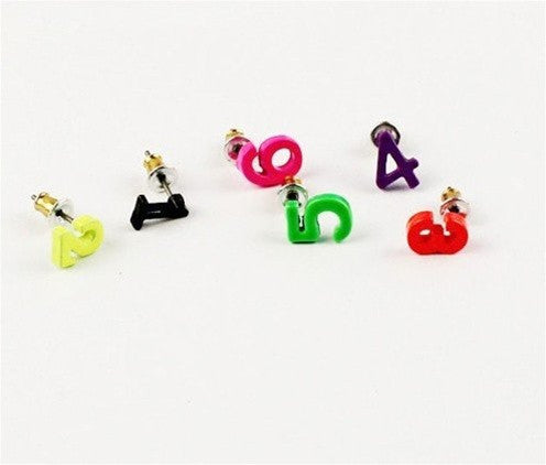 Numbers Earring Set