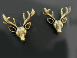 Deer Head Earrings