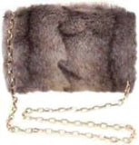 Natural Faux Fur Muffler Purse