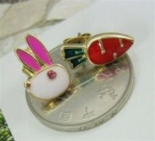Rabbit Carrot Studs