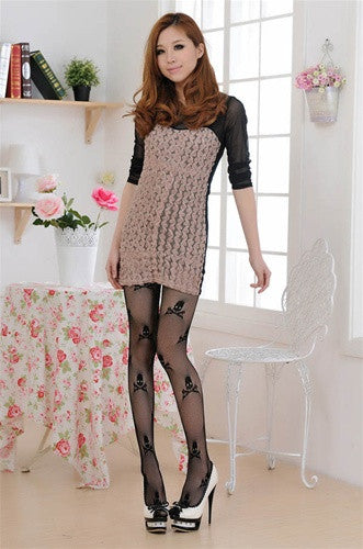 Skull And Crossbone Tights