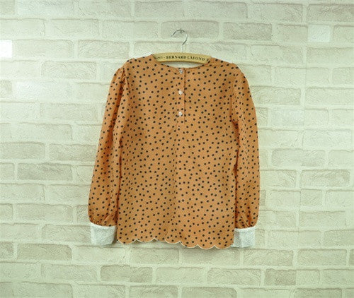 Polka Dot Tier Blouse