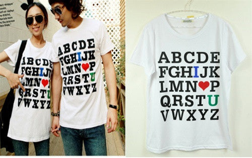 Alphabet Love Shirt