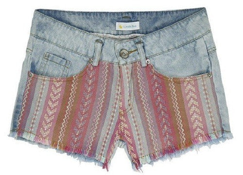 Aztec Patch Shorts