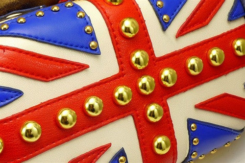 Studded Union Jack Clutch