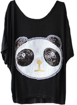Sequin Panda Top