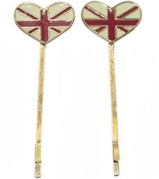 Union Jack Bobby Pins