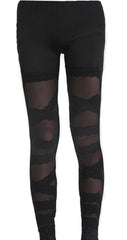 Deconstructed Mesh Leggings