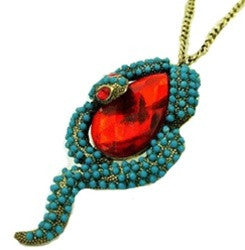 Ruby Snake Necklace