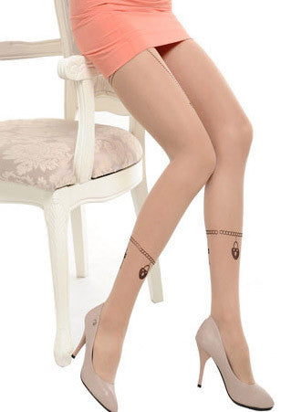 Chain Tattoo Tights