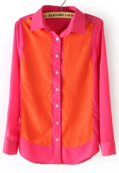 Tonal Color Block Blouse