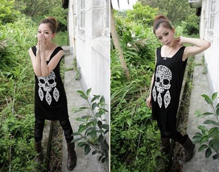 Tribal Skull Feather Tank