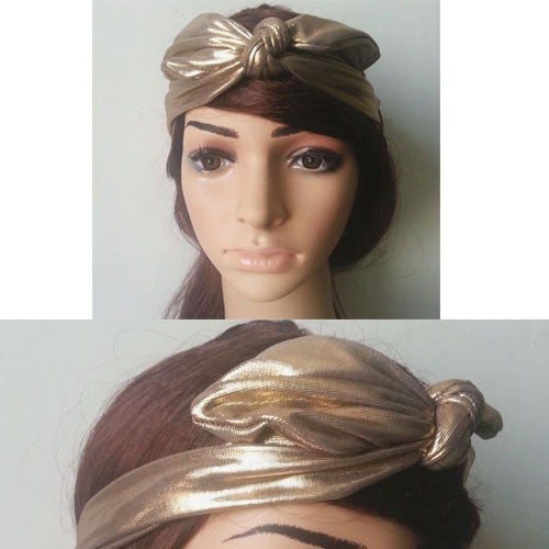 Gold Turban Headwrap