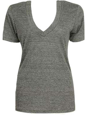 Wide Trim V-Neck