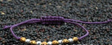 Purple Tonal Nugget Bracelet