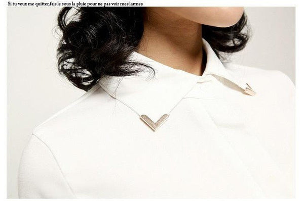 Buckle Collar Blouse