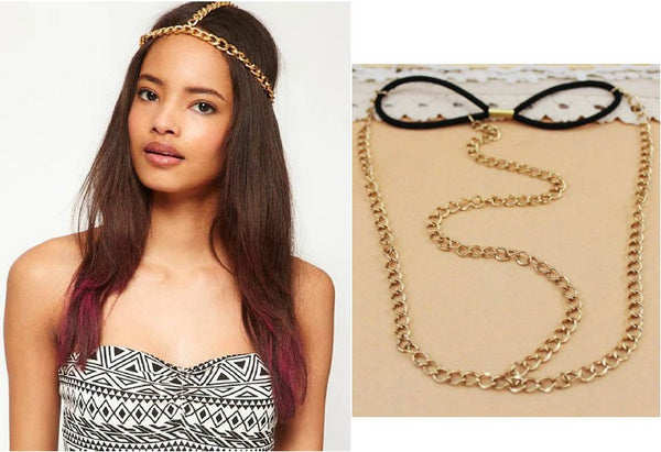 Gold Chain Headband