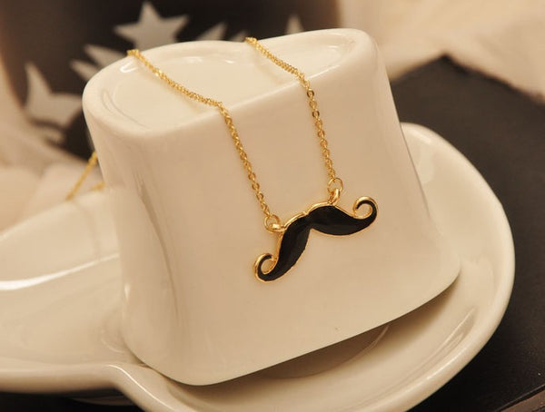 Mini Mustache Necklace