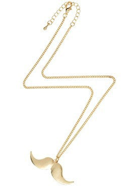 Golden Mustache Necklace