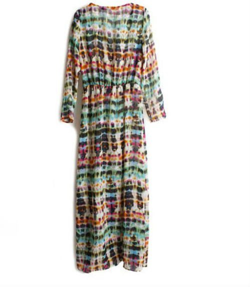 Multi Color Long Cardigan
