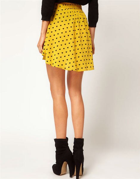 Asymmetrical Hearts Skirt