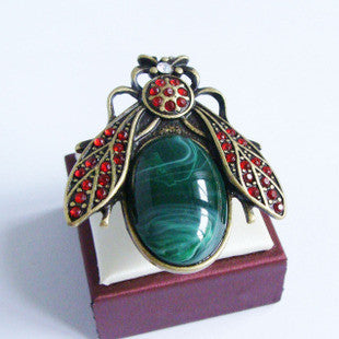 Gemstone Beetle Ring