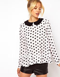 Peter Pan Polka Dot Blouse