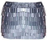Rectangular Sequin Mini Skirt