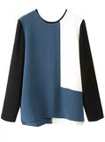 Colorblock Raglan Blouse