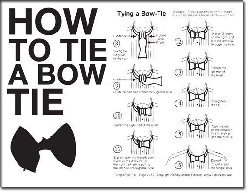 How To Tie A Bow Tie Card