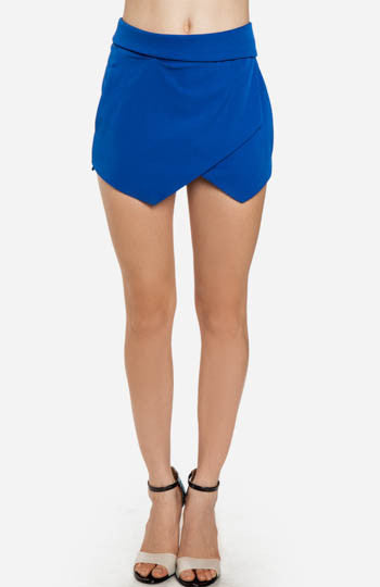 Royal Origami Skirt Shorts