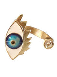 Evil Eye Claw Ring