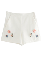 Flower Beaded Shorts