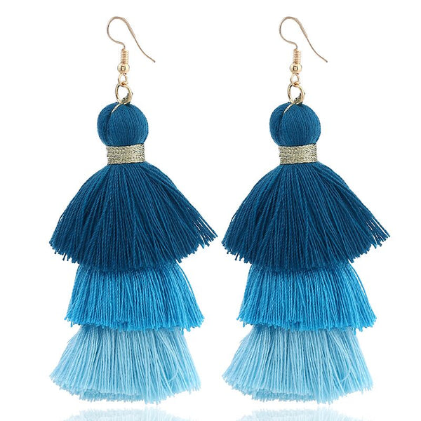 Ombre Fringe Earrings