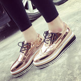 Golden Metallic Platform Shoes