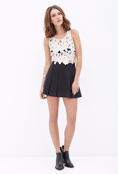 Crotchet Lace Crop Top