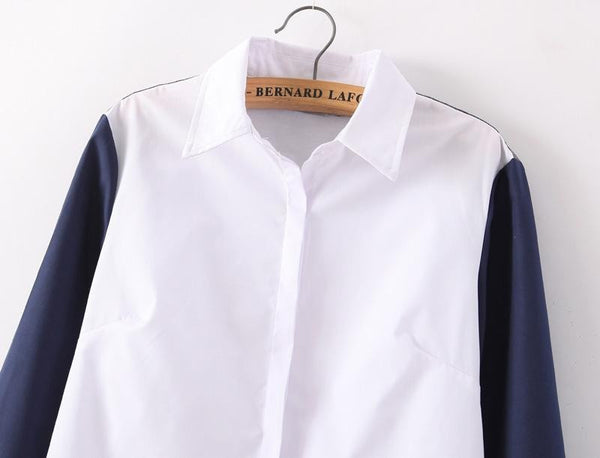 Colorblocked Collared Shirt