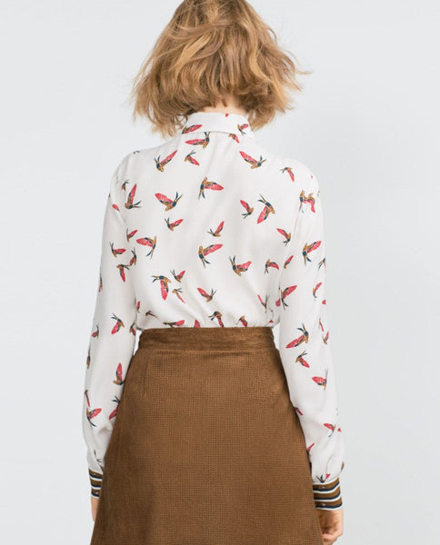 Bird Stripe Blouse