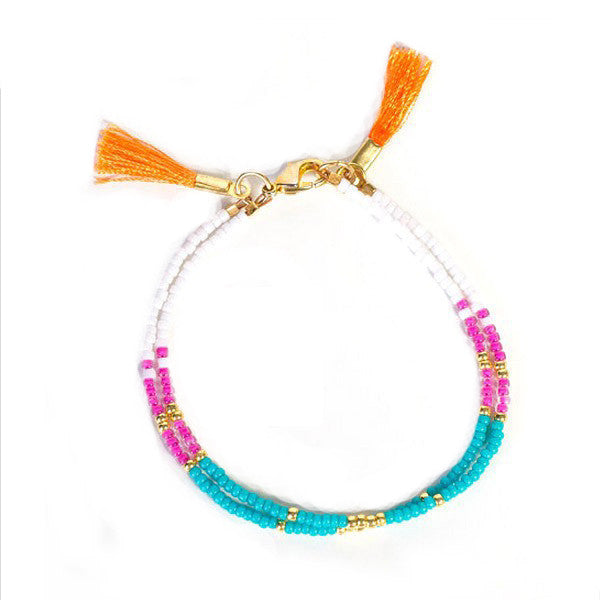 Double Tassel Friendship Bracelet