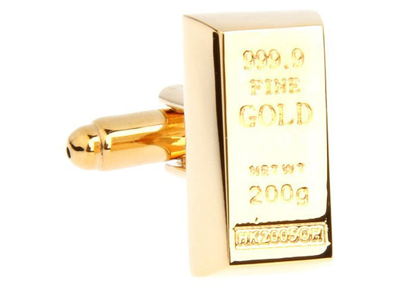 Gold Bar Cufflinks
