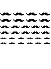 Mustache Nail Stickers