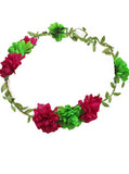 Bright Floral Wreath Headband