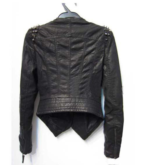 Rivet Spike Leather Jacket