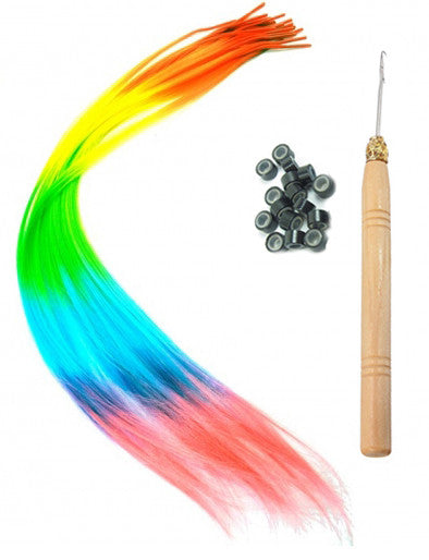 Rainbow Hair Extensions Kit