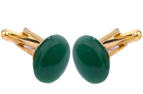 Green Agate Cufflinks