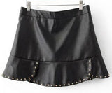 Rivet Leather Skirt