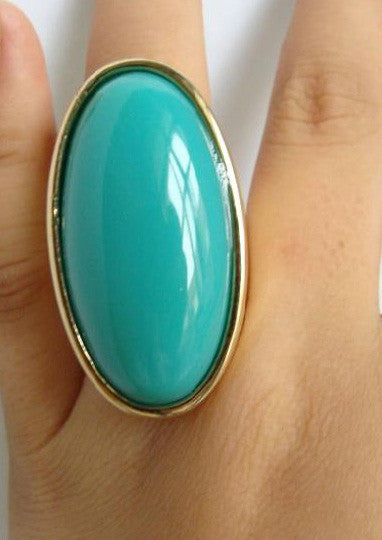 Jaded Oval Ring